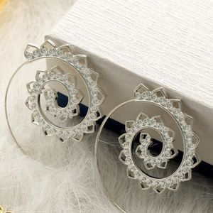 Jewelry - Spiral Hoop Earrings